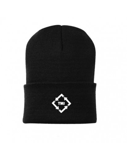 TMI Beanie Black with White Logo