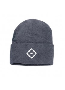 TMI Beanie Grey with White Logo