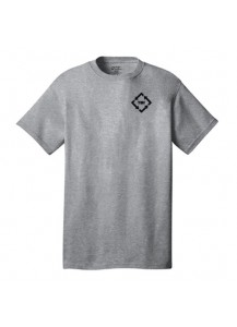 TMI Tee Shirt Heather Grey with Black Logo