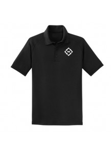 TMI Short Sleeve Polo Black